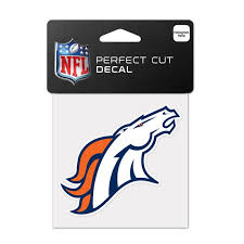 Denver Broncos Official Nfl 4 Inch X 4 Inch Die Cut Car Decal By Wincraft Walmart Com Walmart Com