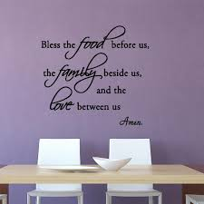 Bless The Food Before Us Wall Decal Quotes Family Love Vwaq Com