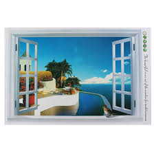 Shop 3d Ocean Coast Scenery Pattern Art Decal Wall Sticker Mural Decoration Overstock 28888742