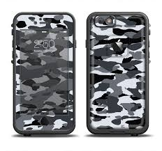 The Traditional Black White Camo Apple Iphone 6 6s Lifeproof Fre Case Skin Set Designskinz