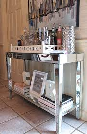 mirrored console table with images