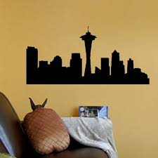 Seattle Skyline Vinyl Decal Wall Decor Art Sticker Kiscus