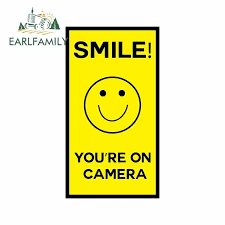 Earlfamily 13cm X 7 1cm For Smile Youre On Camera Fine Decal Vinyl Car Sticker Car Graphic Decal Waterproof Suitable For Van Rv Car Stickers Aliexpress