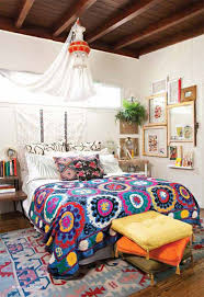 bohemian chic bedding decoration ideas