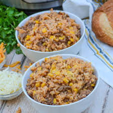 instant pot cheesy ground beef rice