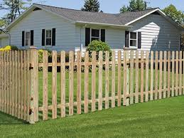 Outdoor Essentials Dog Ear Spaced Picket Fence Wood Fence Gate Designs Fence Gate Design Wood Fence Gates