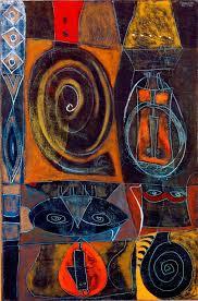 Adolph Gottlieb (American, 1903–1974), Masquerade, 1945 –  Information+Aesthetic