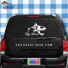 Key West Fish Skeleton Vinyl Car Decal Sticker Fishing Decals