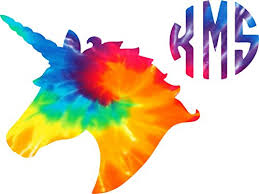 Tie Dyed Unicorn Initial Decal Sticker Buy Online In Cambodia At Desertcart