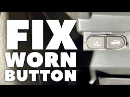 How To Fix Worn Car Buttons Youtube