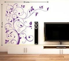 Floral Purple Vine Tv Lcd Background Design Led Diy Wall Decal Modern Decor Wall Stickers Wall Decals Decalsdesignindia