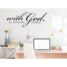 With God All Things Are Possible Christian Wall Decal
