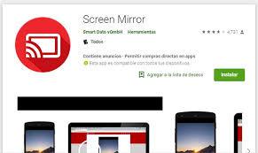 app screen mirror en lg smart tv