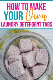 diy laundry detergent tabs