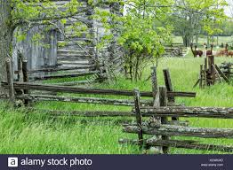 Old Split Rail Fence Log High Resolution Stock Photography And Images Alamy