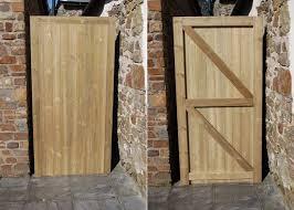wooden garden gate framed ledge