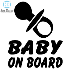 Baby In The Car Window Decals Stickers Car Sign Custom Bumper Baby On Board Sicker China Baby On Board Sicker Custom Baby On Board Car Sticker Made In China Com