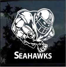 Seattle Seahawks Football Player Window Decal Sticker Custom Sticker Shop