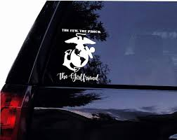 Us Marines 1st To Fight Military Vinyl Decal Sticker Window Wall Car