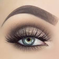 brown eye makeup shimmery natural