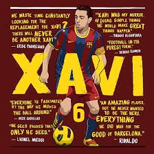 xavi fc barcelona quotes poster by kierancdesign redbubble