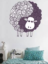 Funny Lamb Wall Decals Animals Wall Decals Wall Decal For Etsy