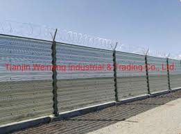 China Sw Zp023 Barbed Wire Panel Wind Break Steel Fencing Wall China Burglar Stab Wire Wall Anti Theft Wall