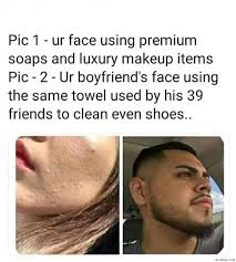 your face using premium soaps and