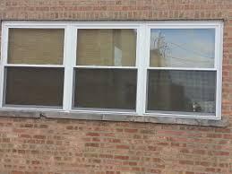 vinyl windows installed metal lintel