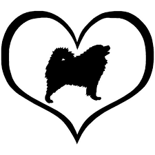 Samoyed Heart Car Sticker The Top Dog Deals