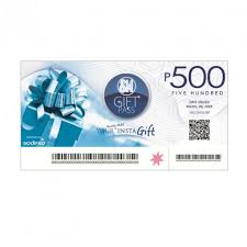 sm gift certificate php500