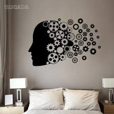 Vinyl Wall Decal Sticker Office Study Meeting Room Motto Quote Human Gear Head Mind Work Brain Stickers Unique Gift Jg4066 Wall Stickers Aliexpress