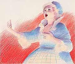 Original Artwork: Adrian George: Opera Singer