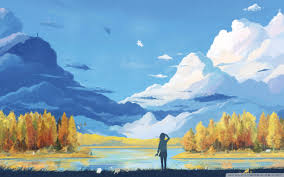 fall scenery painting ultra hd desktop
