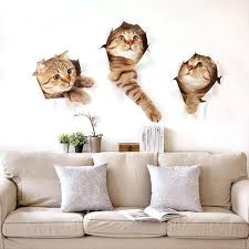 3d Cat Wall Decal Freakypet