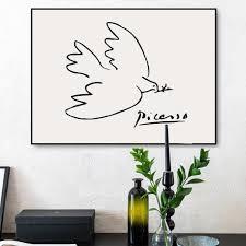 Minimalist Drawing Picasso Gallery Wall Arts Gallery Wallrus Free Worldwide Shipping