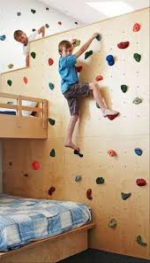 Rock Climbing Wall In Kids Room Kids Room Ideas Home Decor Cool Kids Bedrooms Kids Playroom Kids Room
