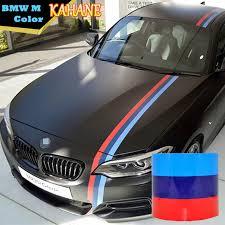 Kahane M Color Stripe Car Hood Vinyl Sticker Body Decal 2m 3m 4m 5m For Bmw M3 M5 M6 E46 E61 E90 E92 3 5 7 Series Decals For Cars Decal Stripesdecals Auto Aliexpress