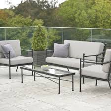 4 piece garden sofa set metal