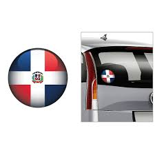 Dominican Flag Decal 4 1 2in Party City
