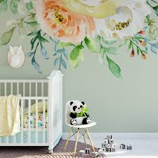 Mia Pastel Watercolor Wild Flowers Wall Mural Decal Blooms