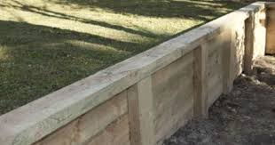 curved timber retaining wall with