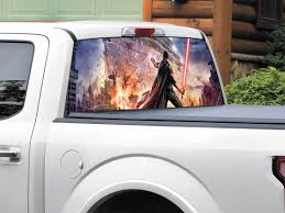 Product Lightsaber Star Destroyer Star Wars Starkiller Video Game Rear Window Decal Sticker Pick Up Truck Suv Car Any Size