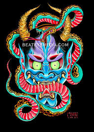 Aaron Colemantattoostickermonstermonstersdemoncomic Etsy