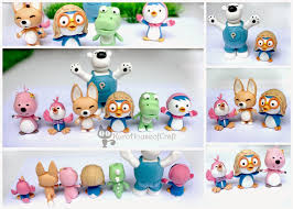 Pororo And Friends Clay Figures Cake Topper Pororo