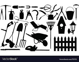 gardening tools collage royalty free