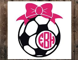 Soccer Ball Monogram Decal Monogram Decal Yeti Cup Decal Etsy