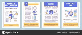 sports nutrition brochure template