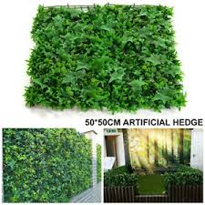 Artificial Faux Green Leaf Hedge Privacy Screening Garden Wall Fence Cover New Ebay