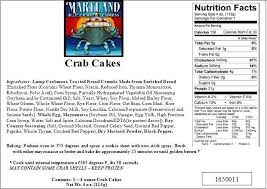nutritional facts maryland crabs